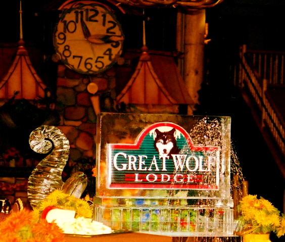 Great Wolf Lodge Ice Sculptures
