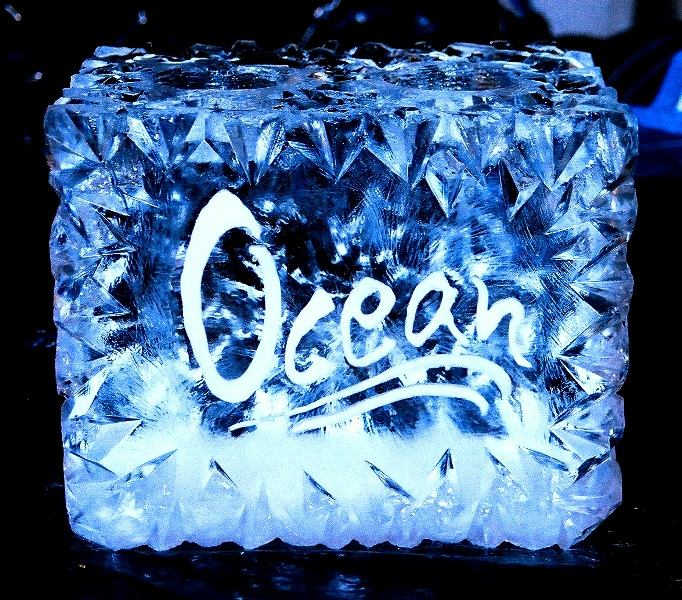bottle chiller ice sculpture