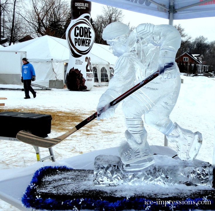 By Ice Impressions, ice-impressions.com, Ice Impressions Custom Special Event Ice Sculptures, Ice Impressions Custom Ice Sculptures, Hockey Player Ice Sculpture, Ice Impressions Ice Sculptures, Ice Sculptures, Ice Carvings, ice-impressions.com