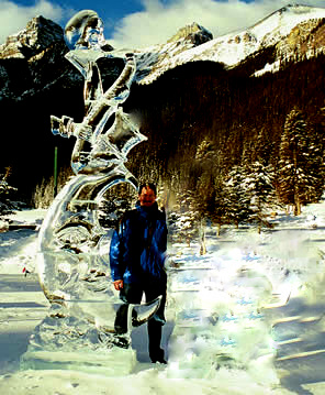 ice sculptures, banff lake louise
