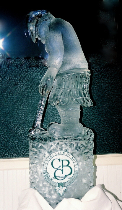 Golfer Ice Sculpture, Michigan Ice Sculptures