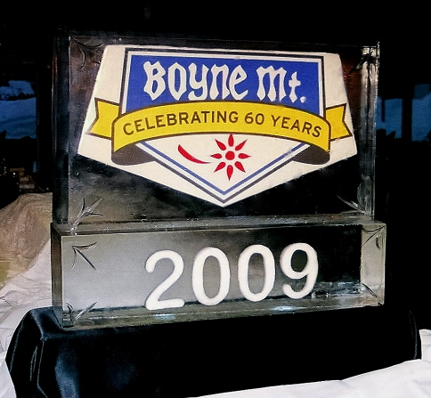 boyne mountain resort 2009, new years eve ice sculpture
