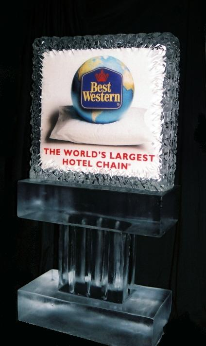 Best Western Ice Sculpture, michigan business promotion
