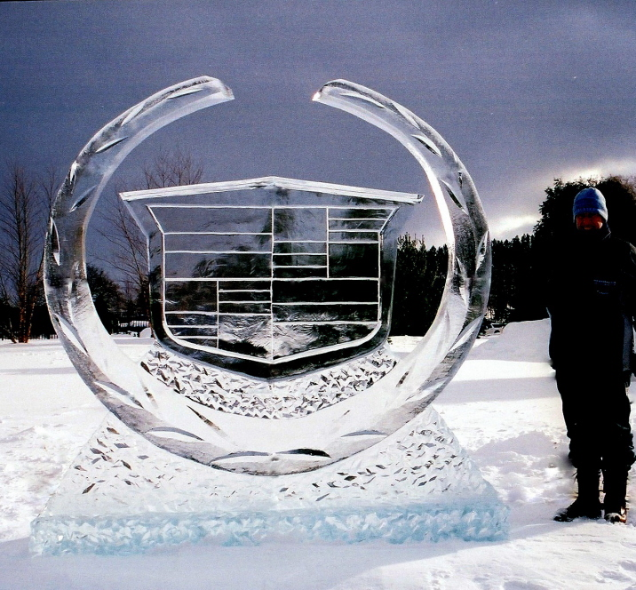 corporate ice sculptures, brand promotion ice sculpture