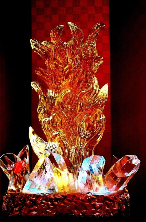 ice sculptures, fire and ice ice sculpture