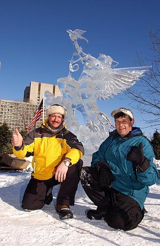 International Ice Sculpture Masters Invitational Ottawa Canada, Steven Berkshire,Winterlude Ice Sculpting Competition