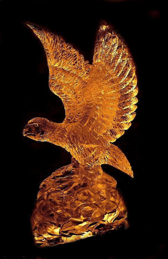 Ice Sculpture of an american bald eagle