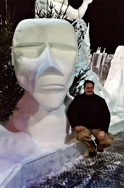 By Steven Berkshire, Sculptor Steven Berkshire, Steven Berkshire, Steve Berkshire, Ice Impressions, ice-impressions.com, ice sculptures, ice sculpture, ice carving, ice carvings, custom ice sculptures, special event ice sculptures, Easter Island, Easter Island Sculpture, Easter Island Ice Sculpture, Steven Berkshire, World Champion Ice Sculptor Steven Berkshire.