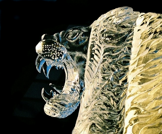 Lion Ice Sculpture