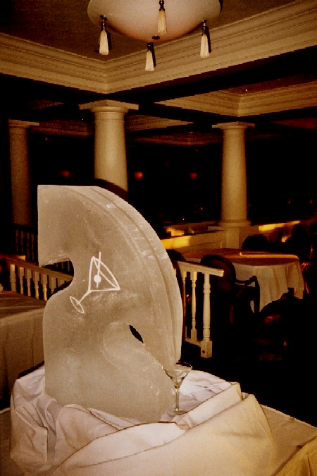 ice luge, michigan ice sculpture