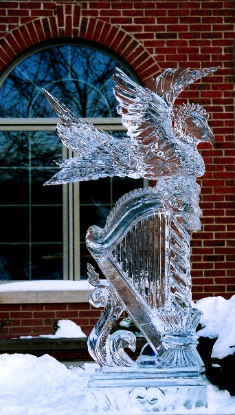Harp Ice Sculpture, Ice Impressions Ice Scultures, Traverse City Ice Sculptures