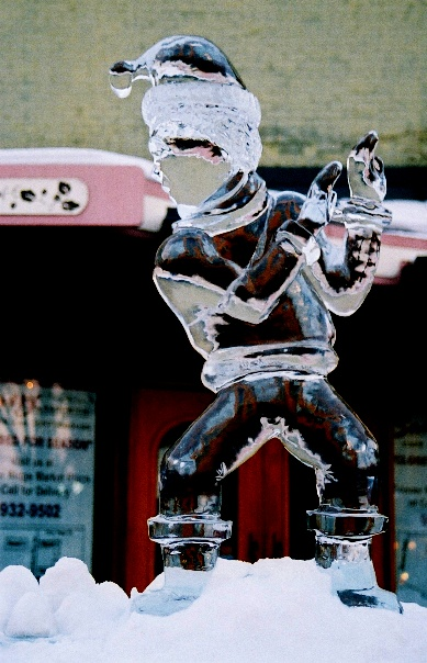 Business Ice Sculptures, Winter festival Ice Sculptures, Traverse city Ice Sculptures, Ice Impressions Ice Sculptures, Ice Impressions.