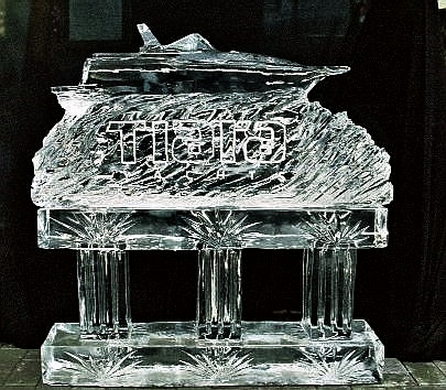 TIARA YACHTS, TIARA YACHT ICE SCULPTURE, Ice Impressions Ice Sculptures, Ice Impressions