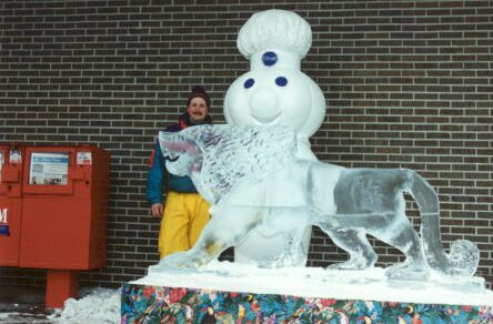 Pillsbury Lion Ice Sculpture