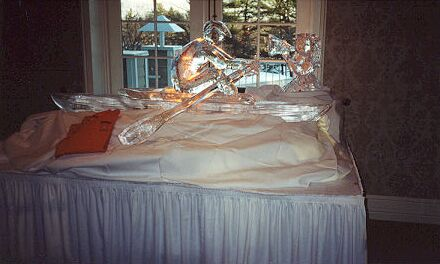 olympic sculler Ice Sculpture