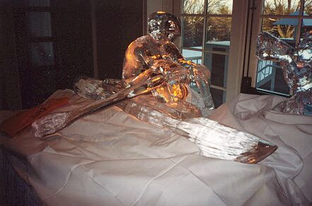 Rower Ice Sculpture
