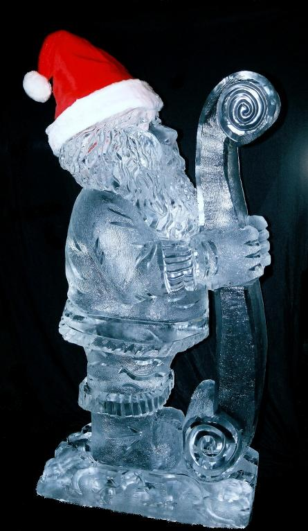 ice sculpture, ice sculptures, santa ice sculpture