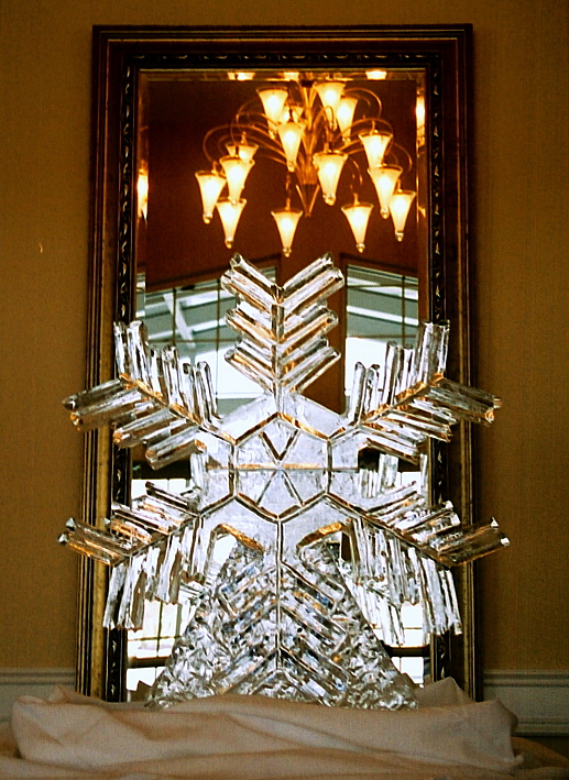 snowflake ice sculpture jpg, ice sculptures, ice sculptures, ice sculpture, icesculptures for weddings, michigan ice sculptures, michigan ice sculpture,  ice impressions, wedding ice sculptures, wedding ice sculpture, northern michigan wedding ice sculptures, special event ice sculptures, grand rapids ice sculptures.